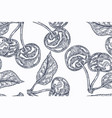seamless botanical pattern with cherry branches vector image