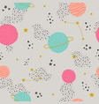 seamless childish pattern with space elements vector image vector image