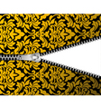 seamless damask background with zipper for design vector image vector image