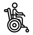 senior man wheelchair icon outline style vector image vector image