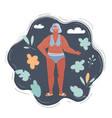 senior woman in swimming vector image vector image