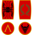 set of ancient shields vector image vector image