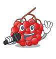 singing rowan slices fruit cartoon berries shape vector image