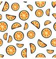 slices fresh orange fruit on white background vector image