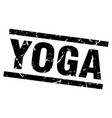 square grunge black yoga stamp vector image vector image