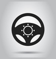 steering wheel icon business concept car wheel vector image