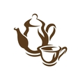 Teapot and teacup vector image