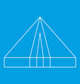 tourist triangle tent icon outline style vector image vector image