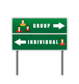 traffic sign icons people vector image vector image