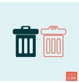 Trash basket icon vector image