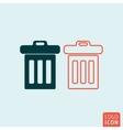 Trash basket icon vector image
