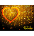 Valentine mosaic disco wall and text nackground vector image vector image