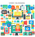 video blogging webinar education male and female vector image vector image