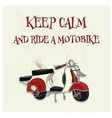 vintage motorbike poster vector image vector image