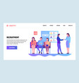 web site gradient design template human vector image