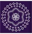white lotus mandala blue background image vector image vector image