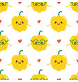 yellow bell pepper characters seamless pattern