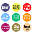 sale promo labels and stickers collection vector image