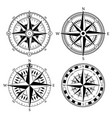 vintage nautical compass signs set retro vector image
