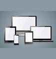 gadget icon smartphone tablet book reader vector image