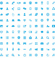 100 social media icons vector image