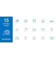 15 newborn icons vector image vector image