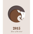 2015 New year of the Goat vector image vector image