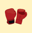 a pair of boxing gloves with flat style and vector image vector image