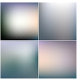 Abstract blurred hexagonal backgrounds set vector image vector image