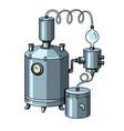 alcohol machine pop art vector image vector image