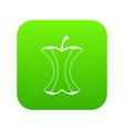 apple stump icon digital green vector image