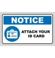 Attach your ID card icon Information mandatory