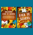 back to school autumn season poster vector image vector image