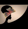 banner african woman wears bandana hair curly vector image vector image