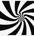 black white striped background optical 3d vector image vector image