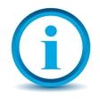 Blue info icon vector image