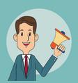businessman megaphone digital marketing vector image