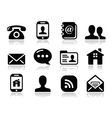 Contact black icons set - mobile user smartphone vector | Price: 1 Credit (USD $1)