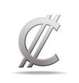 costa rican and salvadoran colon currency symbol vector image vector image