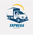Delivery and shipping service logo template