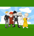 different religion people vector image