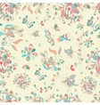 Doodle bright flowers seamless pattern vector image