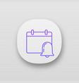 event notification app icon vector image vector image
