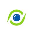eye spy monitor technology logo vector image vector image