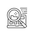file search in laptop line icon vector image