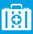 first aid kit icon white vector image vector image