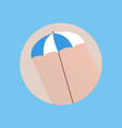 flat style with long shadows beach umbrella icon vector image