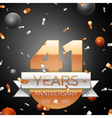 Forty one years anniversary celebration background vector image vector image
