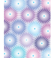 geometric flower abstract pattern blue violet vector image vector image