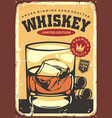 glass whiskey vector image